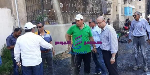 استمرار حملة انهاء مشكلة الصرف الصحي ورفع كفاءة منطقة فاطمة الزهراء ببورسعيد لليوم الرابع |