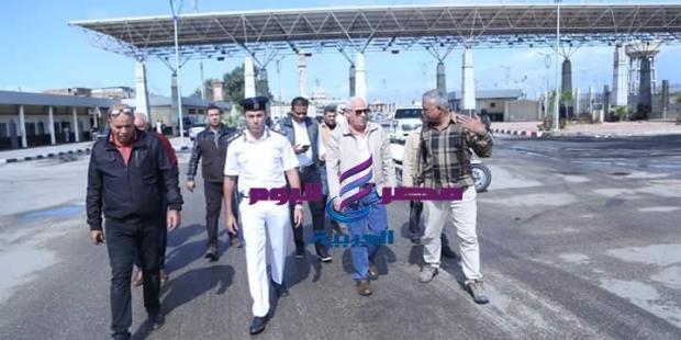 محافظ بورسعيد يتفقد منفذ الرسوة الجمركى ومدخل بورسعيد  