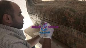 توابيت خبيئة العساسيف تصل المتحف المصري الكبير