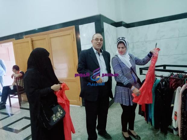 افتتاح المعرض الخيرى السنوى للملابس بجامعة الفيوم |