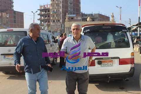 رئيس مدينة دسوق وجولة ميدانية بالموقف العام للسيارات  