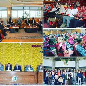 فعاليات الدورة التاسعة لمكافحة العدوى في المنشآت الصحية لدول الشرق الأوسط بجامعة الفيوم |