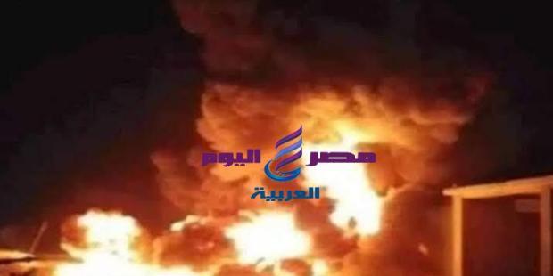 حريق منازل وأحواش بمنطقه ريفيه بسوهاج |