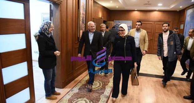 محافظ بورسعيد يستقبل وزيرة الصحة لمتابعة منظومة التامين الصحي الشامل | محافظ بورسعيد