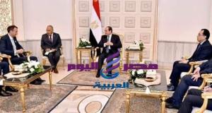 السيسى مع رئيس شركة بريتيش بتروليوم BP خلال مؤتمر مصر الدولى للبترول - بتروليوم - فبراير 11, 2020