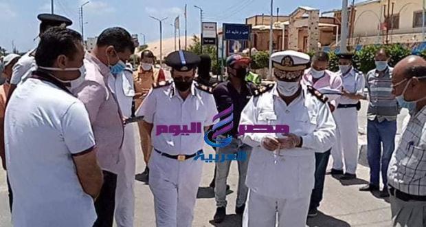 رؤساء مدينتي مصيف بلطيم ومطوبس يتابعان استمرار الحملات الأمنية لإغلاق الشواطئ.