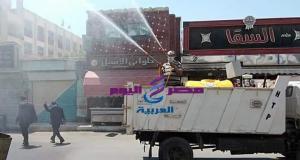 إسلام نائب المحافظ يتابع حملات تعقيم وتطهير شوارع الزرقا بدمياط