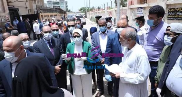 أبرز ماجاء في زيارة وزيرة الصحة والسكان لمستشفى أبوقير بالإسكندرية | وزيرة الصحة والسكان