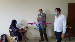 عطيه نائب رئيس جامعة المنصوره يتابع أليات بدء اختبارات الفصل الدراسي الثاني