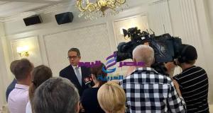 وزير السياحة والآثار يشارك في مؤتمر صحفي ويعقد سلسلة من اللقاءات الإعلامية مع وسائل الإعلام البيلاروسية | السياحة والآثار