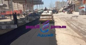 رصف موقف السيارات الجديد لخدمة أهالى قريى سد خميس | رصف