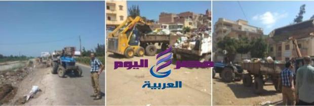 رئيس الوحدة المحلية بشباس الملح يشرف على رفع القمامة برابع أيام العيد