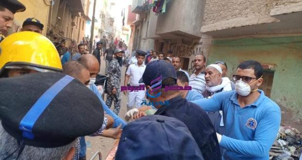 عاجل انهيار احدى العقارات بمحافظة اسيوط
