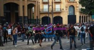 متظاهرى بيروت يطالبون بإسقاط الرئيس اللبنانى | بيروت