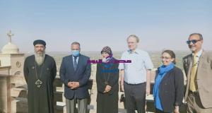 السفير الألماني يزور دير العذراء بدرنكة في أسيوط ويشيد بحسن الاستقبال