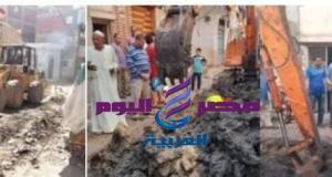 ابو كيلة يتفقد سير العمل بمشروع الصرف بقرية كفر العرب