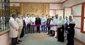 مرور مفاجئ لوكيل وزارة الصحة بالشرقية علي مستشفي الحسينيه المركزي