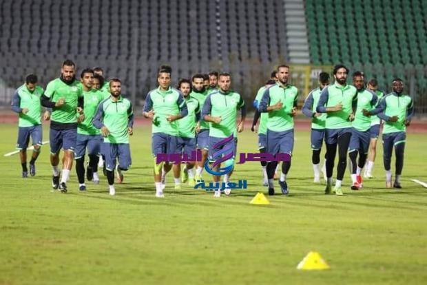 """استعدادا"""" لانطلاق الدورى واصل المصري تدريباته اليوم بالاستاد"""