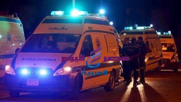 اصابة شاب في حادث تصادم سياره ملاكي بدراجه نارية موتوسيكل علي طريق المحلة سكة قطور