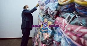 جامعة بني سويف توزع 1200 بطانية على عمال الجامعة ومشروع النظافة بالمحافظة   بني سويف