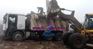 جهود مكثفه لرفع تجمعات القمامه من مصنع تدوير المحله | جهود مكثفه