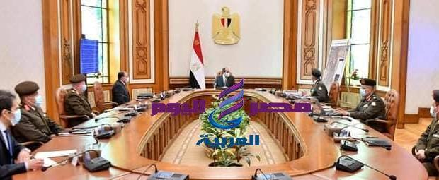"""الرئيس السيسى. يتابع مخططات تطوير منطقة الكيلو """"4,5"""" بشرق القاهرة والتي تضم عزبة الهجانة"""