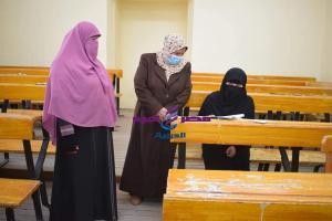 عميدة الدراسات الاسلامية متابعة امتحانات الفصل الدراسي الأول للعام الجامعي | عميدة