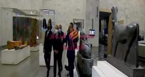 الرئيس السيسى .. يتفقد القاعة الرئيسية بالمتحف القومى للحضارة