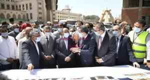 وزير التنمية المحلية ومحافظ الغربية يفتتحان مشروع تطوير ميدان المحطة ويضعان حجر أساس فندق ومنطقة ترفيهية | وزير
