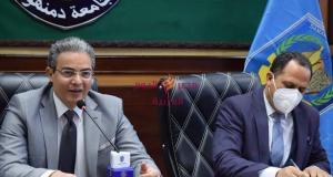 رئيس جامعة دمنهور يدشن قرعة ملتقى حور الثالث للفنون بجامعه دمنهور   رئيس