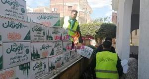 توزيع ٤ آلاف كرتونة رمضان على الأسر الأولى بالرعاية | توزيع