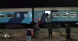 10إصابات إثر خروج قطار عن القضبان في منيا القمح بالشرقية