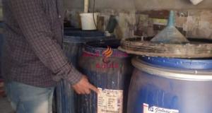تموين الغربية: يضبط منظفات صناعيه ومياه شرب مجهولة المصدر