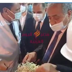 زيارة وزير التموين لمصنع أنتاج سكر البنجر بالحامول   زيارة