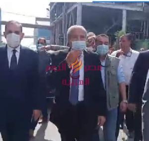 زيارة وزير التموين لمصنع أنتاج سكر البنجر بالحامول