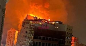 عاجل.......حريق هائل بفندق بانوراما بطنطا | حريق