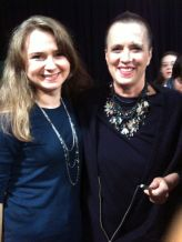With Eve Ensler - getting ready for VDay Productions
