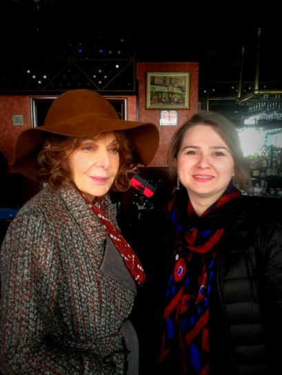 """With Elaine May - On the set of Woody Allen's Amazon Project, New York 2016. May started her career in Compass Players, the first improvisation group in America led by Paul Sills. Later """"Mike and Elaine"""" became legends of American comedy."""