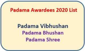 List of Padama Awardees 2020