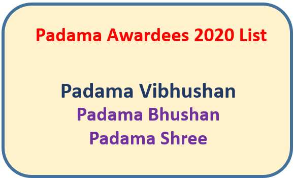 List of Padama Awardees 2020