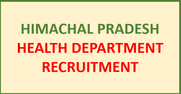 Read more about the article HP Health Department Recruitment