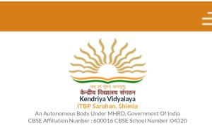 Various Vacancy in Kendriya Vidyalaya ITBP Sarahan