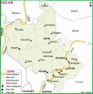 Brief Geography of District Solan – HP