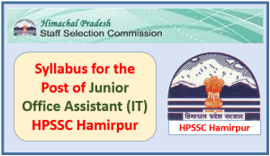 Syllabus for the Post of Junior Office Assistant (IT) HPSSC Hamirpur