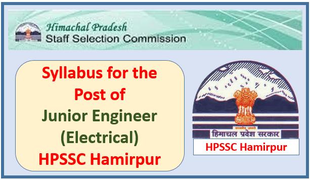 Syllabus for the Post of Junior Engineer (Electrical) HPSEBL – HPSSC Hamirpur