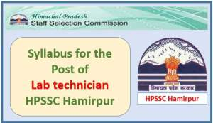 Syllabus for the Post of Laboratory Technician (AYURVEDA)-HPSSC Hamirpur