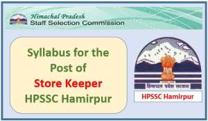 Syllabus for the post of HRTC Store Keeper-HPSSC Hamirpur