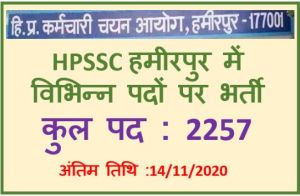 Read more about the article HPSSC Hamirpur Recruitment : Apply Online Now