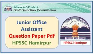 Junior Office Assistant-IT Question Paper Pdf Download