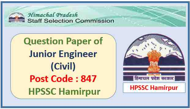HPSSC Junior Engineer Civil Question Paper 2021